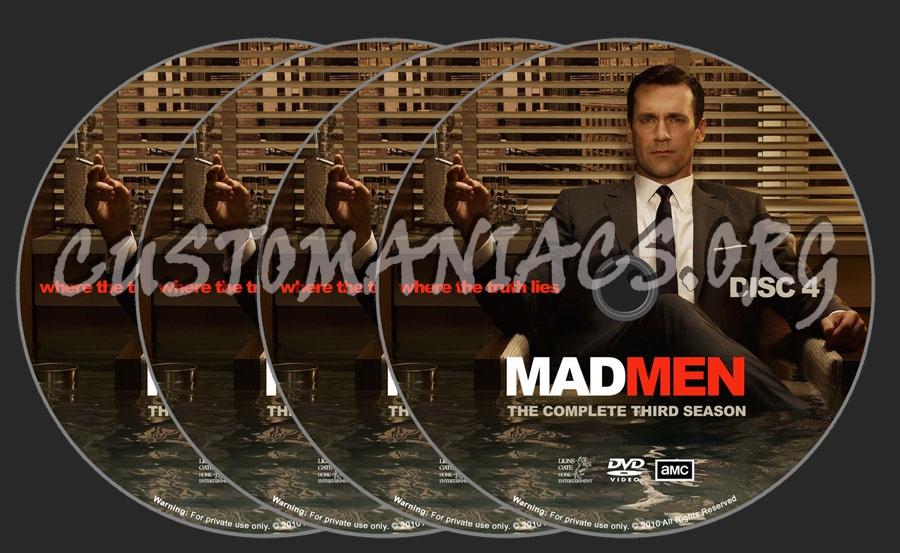 Mad Men season 3 dvd label