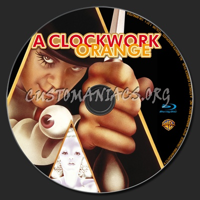 A Clockwork Orange blu-ray label