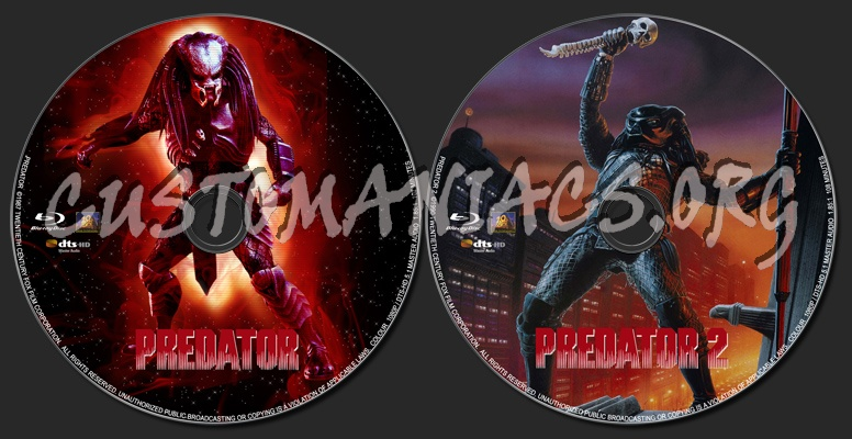 Predator / Predator 2 blu-ray label