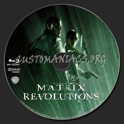 The Matrix Revolutions blu-ray label