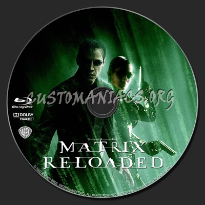 The Matrix Reloaded blu-ray label