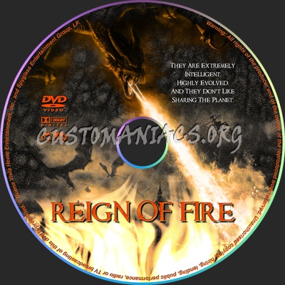 Reign Of Fire dvd label