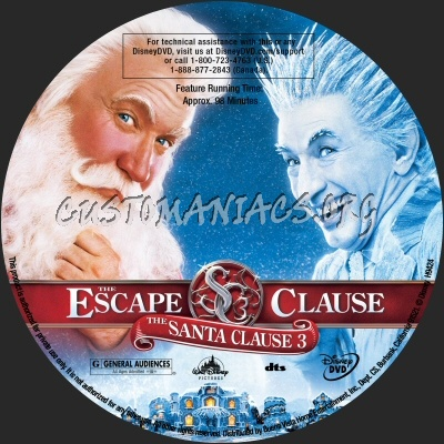 The Santa Clause 3 dvd label