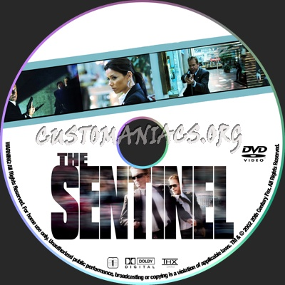 The Sentinel dvd label
