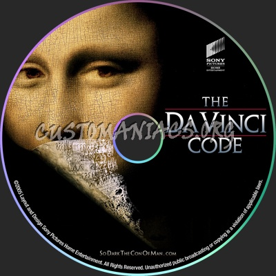 The Da Vinci Code dvd label