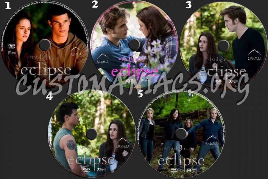 The Twilight Saga  Eclipse dvd label