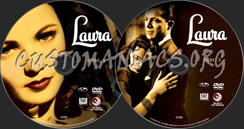 Laura dvd label