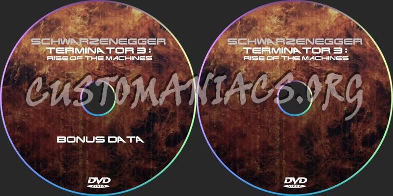 Terminator 3: Rise Of The Machines dvd label