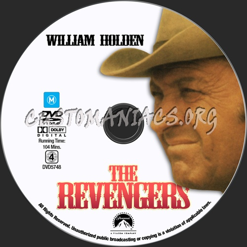 The Revengers dvd label