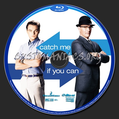 Catch Me If You Can blu-ray label