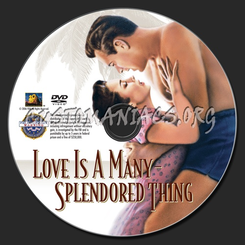 Love is a Many-Splendored Thing dvd label