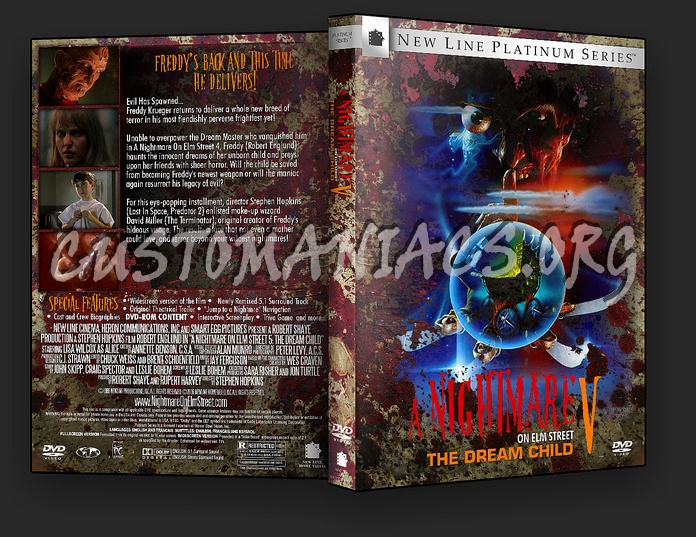 A Nightmare On Elm Street 5: The Dream Child dvd cover