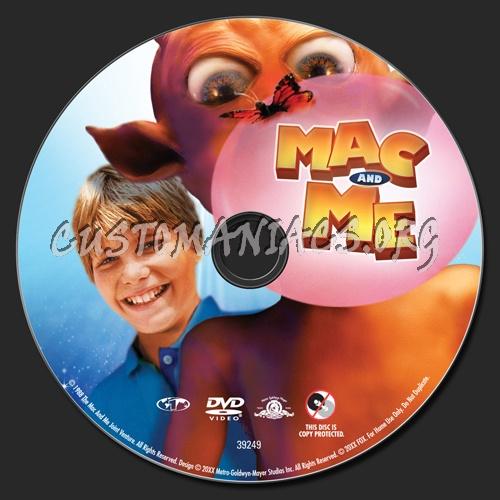 Mac & Me dvd label
