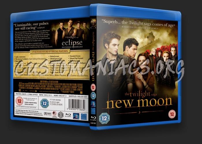 The Twilight Saga: New Moon blu-ray cover