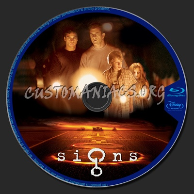 Signs blu-ray label