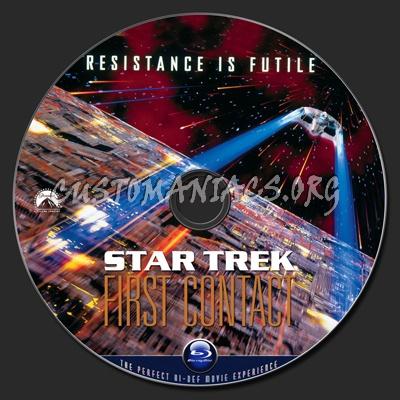 Star Trek VIII First Contact blu-ray label