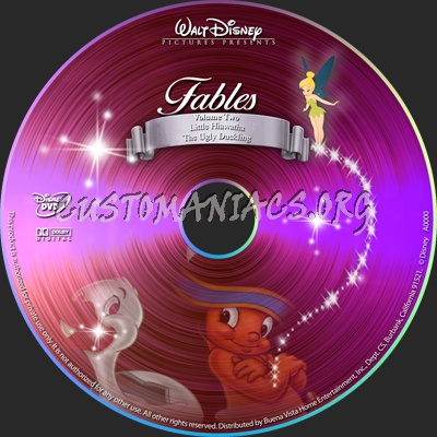 Fables volume 2 dvd label