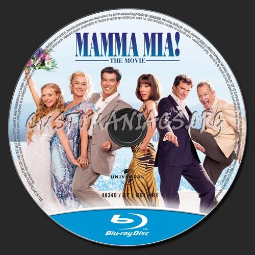 Mamma Mia! The Movie blu-ray label