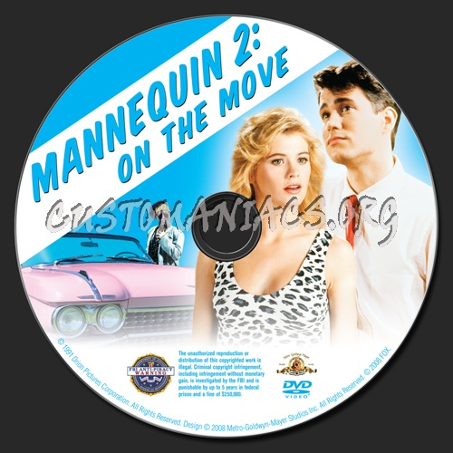 Mannequin 2 On the Move dvd label