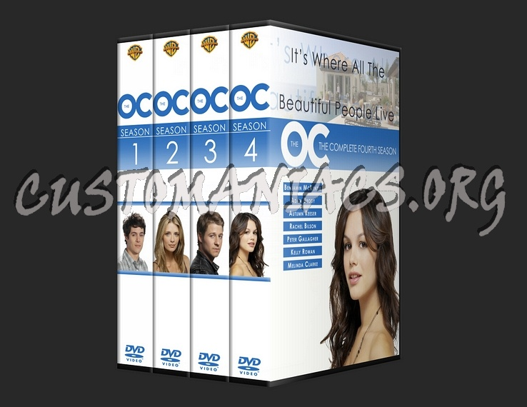 The o. C. ( oc ) season 1-4 dvd cover dvd covers & labels by.
