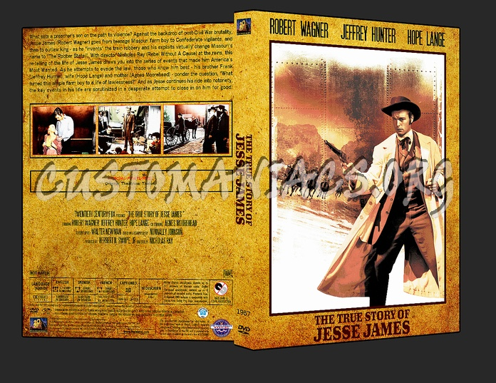 Western Collection - The True Story of Jesse james 1957 dvd cover