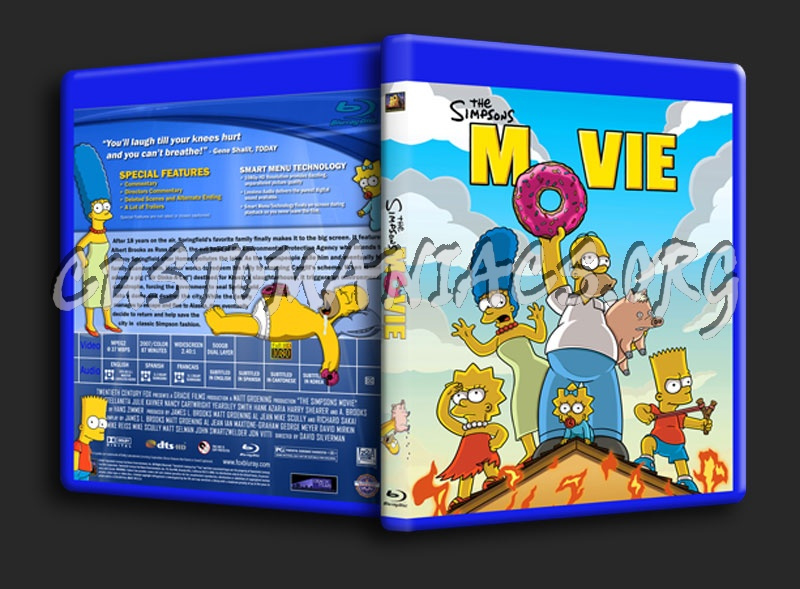 The Simpsons Movie Blu Ray Cover Dvd Covers Labels By Customaniacs Id 104415 Free Download Highres Blu Ray Cover