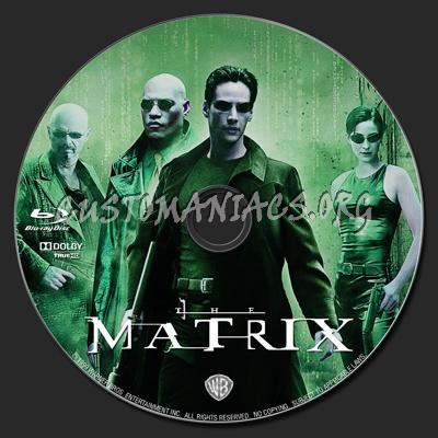 The Matrix blu-ray label