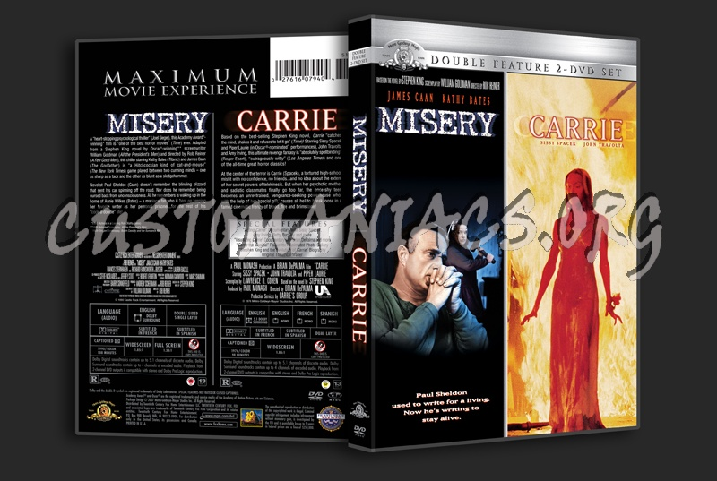 Misery / Carrie dvd cover