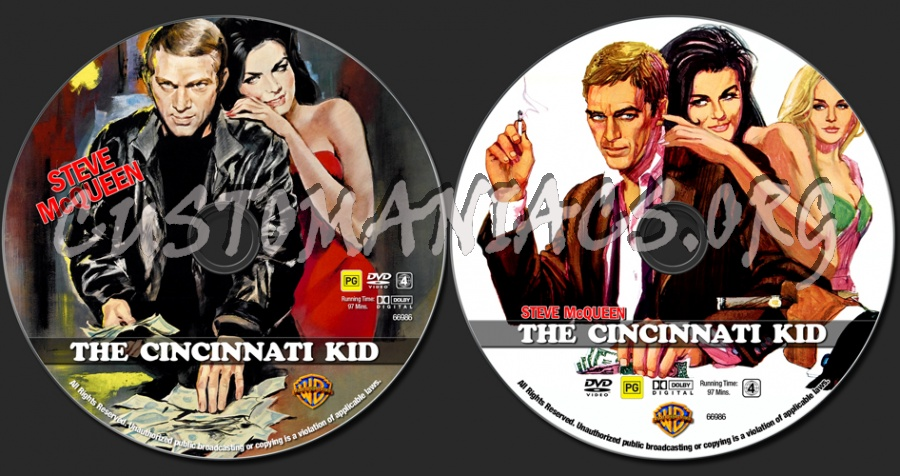 The Cincinnati Kid dvd label