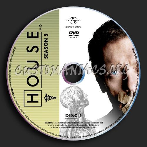 House : Season 5 dvd label