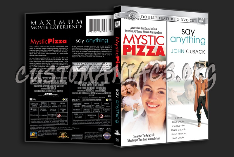 Mystic Pizza / Say Anything dvd cover