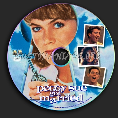 Peggy Sue Got Married dvd label