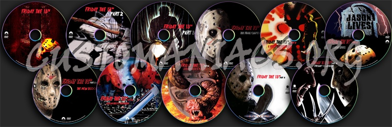 Friday the 13th dvd label