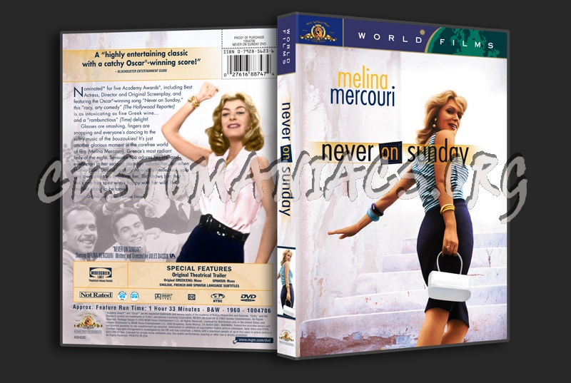 Never on Sunday dvd cover