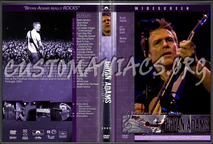 Bryan Adams - Live in Lisbon dvd cover - DVD Covers & Labels by ...