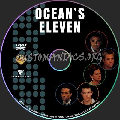 Ocean's 11 dvd label
