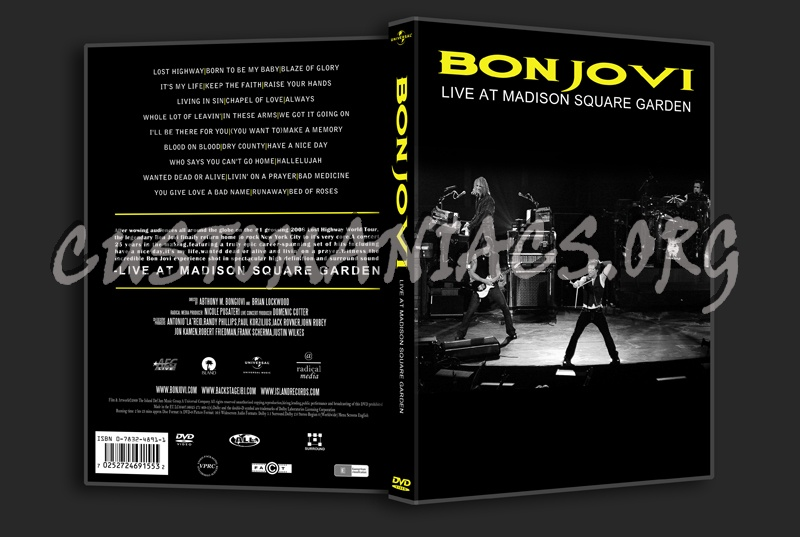 Bon Jovi Live At Madison Square Garden Dvd Cover Dvd Covers Labels By Customaniacs Id