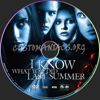 I Know What You Did Last Summer dvd label