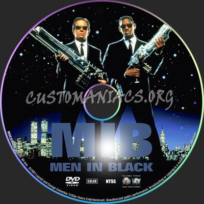 Men In Black dvd label