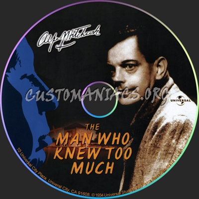 The Man Who Knew Too Much dvd label