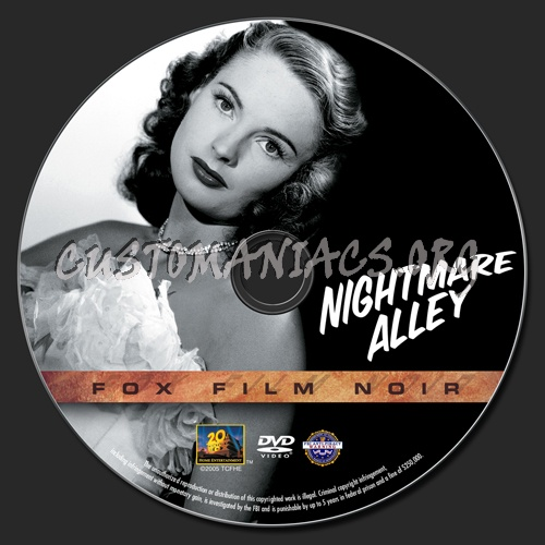 Nightmare Alley dvd label