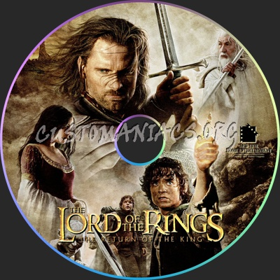 Lord Of The Rings The Return Of The King dvd label
