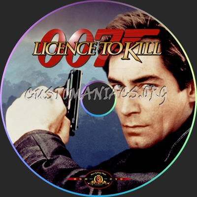 Licence to Kill dvd label