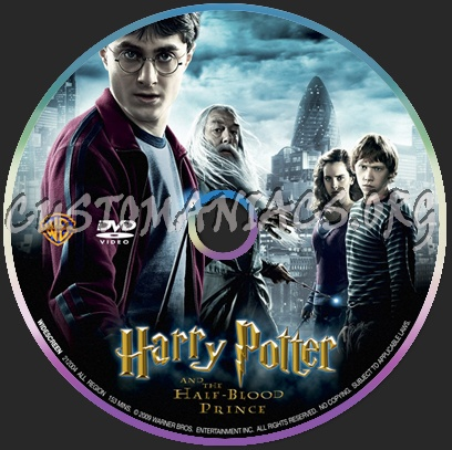 Harry Potter 6 dvd label