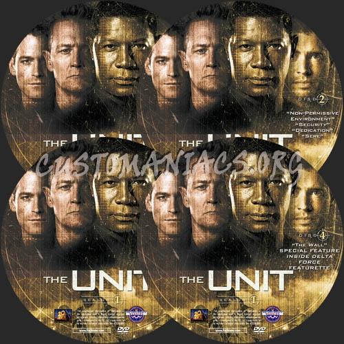 The Unit - Season 1 dvd label