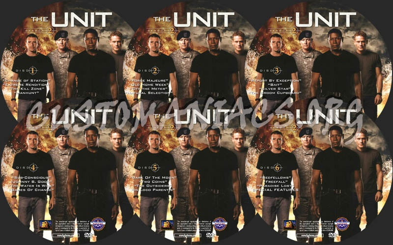 The Unit - Season 2 dvd label