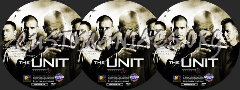 The Unit - Season 3 dvd label