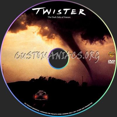 Twister dvd label
