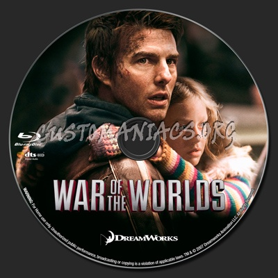War of the Worlds blu-ray label
