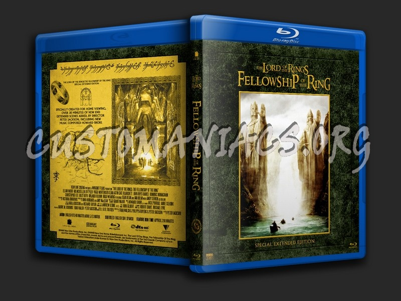 The Lord of the Rings: The Fellowship of the Ring Special Extended Edition blu-ray cover